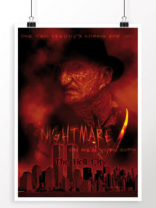 Nightmare on NYC - projekt plakatu