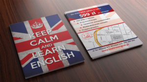 Learn English - projekt ulotki